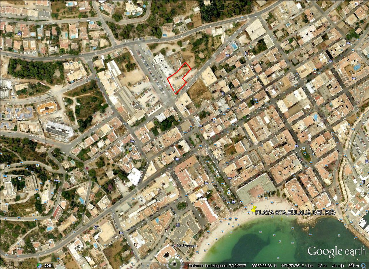 Commercial land to build apartment block. santa eulalia ibiza
